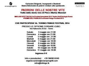 Invito Spettacolo Torino Fringe Festival